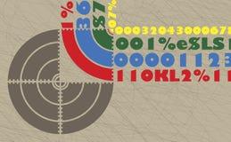 Alvo numeral abstrato Foto de Stock