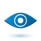 Alvo, objetivo, ícone conceptual abstrato Imagens de Stock