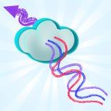 Alvo riscado sumário do fio para nublar-se o sistema Foto de Stock Royalty Free