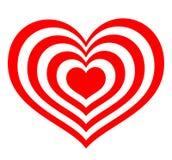 Alvo sob a forma dos corações vermelhos ilustração stock