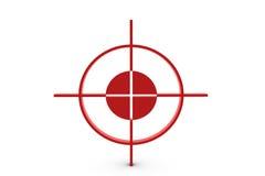 Alvo vermelho Fotografia de Stock Royalty Free