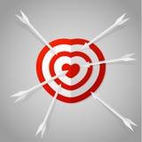 Alvo vermelho do coração Imagem de Stock Royalty Free