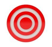 Alvo vermelho isolado no branco Fotos de Stock