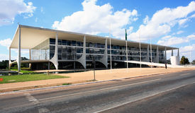 The Alvorada palace brasilia brazil Stock Image