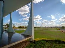 Alvorada Palace, official residence of President of Brazil - Brasilia, Distrito Federal, Brazil. Brasilia, Brasil - Aug 29, 2018: Alvorada Palace, official stock photos