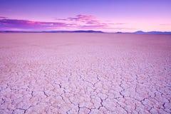Alvord Desert, southeast Oregon, USA. Purple glow at sunset on Alvord Desert dry lakebed in southeastern Oregon, USA Royalty Free Stock Photo