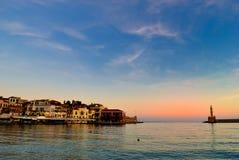 Alvoreça no porto de Chania na Creta Grécia Fotografia de Stock