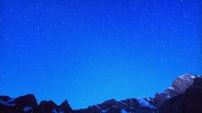 Alvorecer após as estrelas Lapso de tempo Pamir, Tajikist video estoque