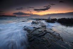 Alvorecer da maré baixa em Warriewood Imagens de Stock Royalty Free