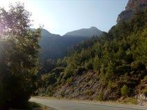 Alvorecer da montanha, luz do dia Fotografia de Stock