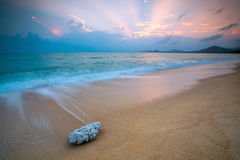 Alvorecer da praia Fotografia de Stock