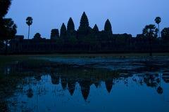 Alvorecer de Angkor Wat fotos de stock