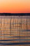 Alvorecer do lago Platte fotos de stock royalty free