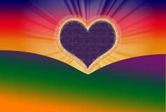 Alvorecer do Valentim Imagens de Stock
