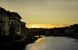 Alvorecer em Florença, Toscânia/Itália Fotografia de Stock
