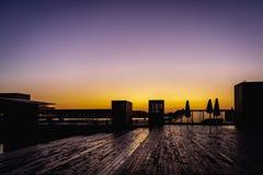 Alvorecer em Ophelia Plads em Copenhaga foto de stock royalty free