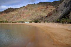 Alvorecer em uma praia de Tenerife Imagens de Stock Royalty Free