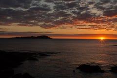 Alvorecer esplêndido da praia de Mundaka Imagem de Stock Royalty Free
