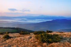 Alvorecer na montanha Fotografia de Stock Royalty Free