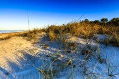 Alvorecer na praia de Manasota fotografia de stock