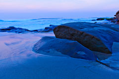 Alvorecer na praia de Windansea Fotografia de Stock Royalty Free