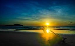 Alvorecer na praia do mar de Vietname Fotos de Stock Royalty Free