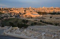 Alvorecer, nascer do sol, sobre o Jerusalém Imagens de Stock Royalty Free