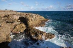 Alvorecer no cabo North Point. Barbados imagens de stock royalty free