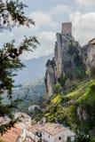 Alvorecer no castelo Imagem de Stock