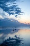Alvorecer no mar Fotografia de Stock