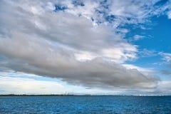 Alvorecer no mar das caraíbas Fotografia de Stock