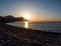 Alvorecer no Mar Negro Volcano Kara-Dag Fotos de Stock Royalty Free