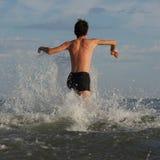 Alvorens te zwemmen Royalty-vrije Stock Foto