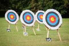Alvos do tiro ao arco Fotografia de Stock