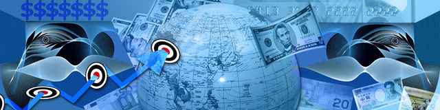Alvos e resultados financeiros Foto de Stock