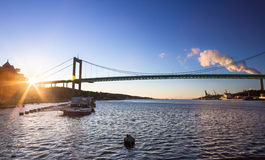 Alvsborg most w Goteborg, Szwecja Zdjęcia Royalty Free