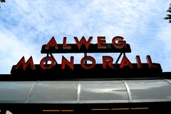 Alweg Monorail Royalty Free Stock Photography