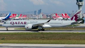A7-ALX Qatar Airways, Airbus A350-941 stock photos