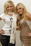 Aly and Aj portrait. Aly and Aj backstage at CD USA Royalty Free Stock Photography