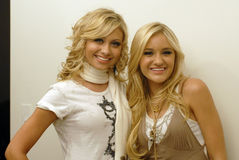 Aly and Aj portrait. Aly and Aj backstage at CD USA Stock Photography