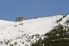 alyeska手段滑雪 免版税库存图片