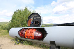 Alyeska Pipeline cleaner demo Royalty Free Stock Photography