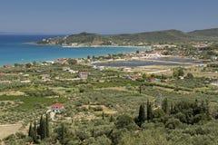 Alykes,扎金索斯州海岛,希腊 免版税库存图片