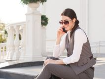 Alyona in a business suit Stock Photo