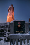 Alyosha zabytek, obrońcy sowieci Arktyczny podczas Wielkiej Patriotycznej wojny, Murmansk, Rosja zdjęcia royalty free