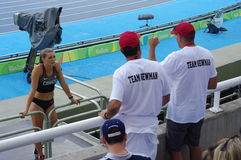 Alysha Newman, athlète canadien Images stock