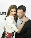 Alysia Reiner and David Alan Bosche Arrive at the 17th Tribeca Film Festival Stock Photo
