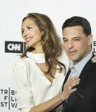 Alysia Reiner und David Alan Bosche Arrive am 17. Tribeca-Film-Festival lizenzfreies stockbild
