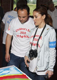 Alyssa Milano visits Kosovo. Actress Alyssa Milano visited Kosovo as a National Ambassador for UNICEF on occasion of June 1st - Children's Day stock photos