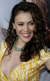 Alyssa Milano. WESTWOOD, CALIFORNIA. Monday May 22, 2006. Alyssa Milano attends the World Premiere of `The Break-Up` held at the Mann Village Theatre in Westwood Stock Photo